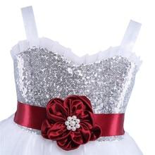 Bridal Princess Sequin White Dress for Kids