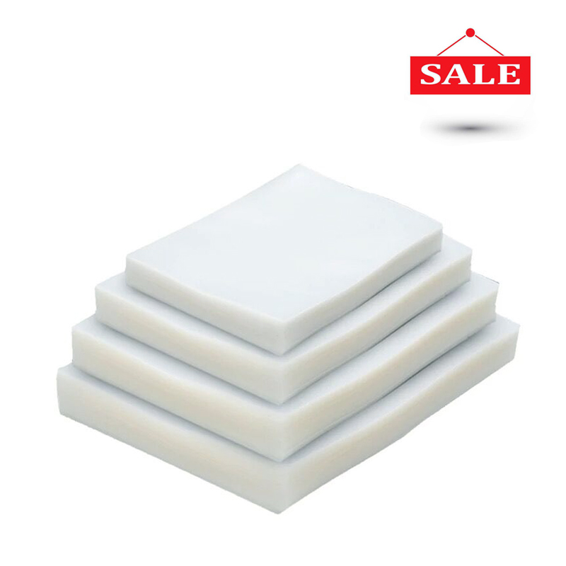100 unids/lote sellador de vacío de plástico de bolsa de almacenamiento de vacío máquina de sellado para empacar alimentos protector embalaje rollos packer bolsas de sellado