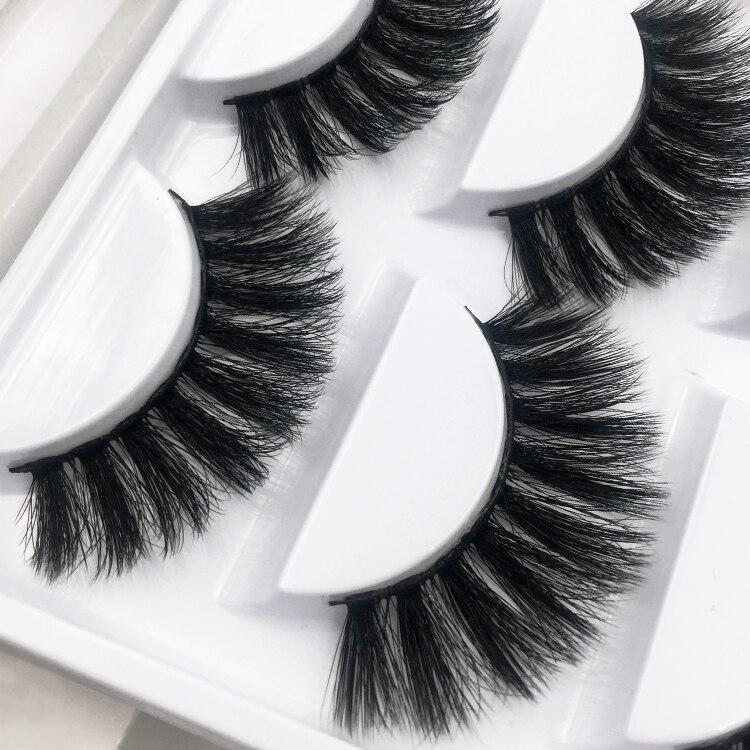 Image 2 - 5pairs/1box thick false eyelashes black long 3d mink eyelashes eyelash extension professional mink lashes makeup eye lashes G800-in False Eyelashes from Beauty & Health