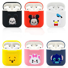 Cute Cartoon DIY Silicone Shockproof Case for Apple Airpods Accessories for i10 TWS Bluetooth Earphone Protective Cover Bag 3d lucky rat cartoon bluetooth earphone case for airpods pro cute accessories protective cover for apple air pods 3 silicone