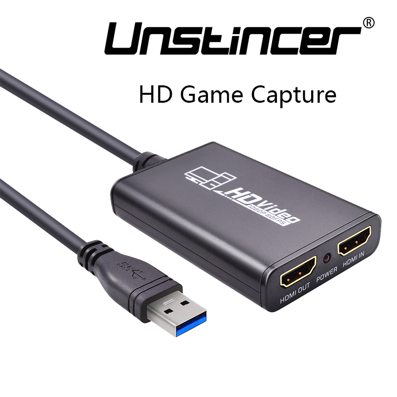 Фотография UNSTINCER HD Game Capture USB 3.0 To HDMI USB 3.0 Port One HDMI input One HDMI output Watching and Recording For PS3/4 PC Laptop