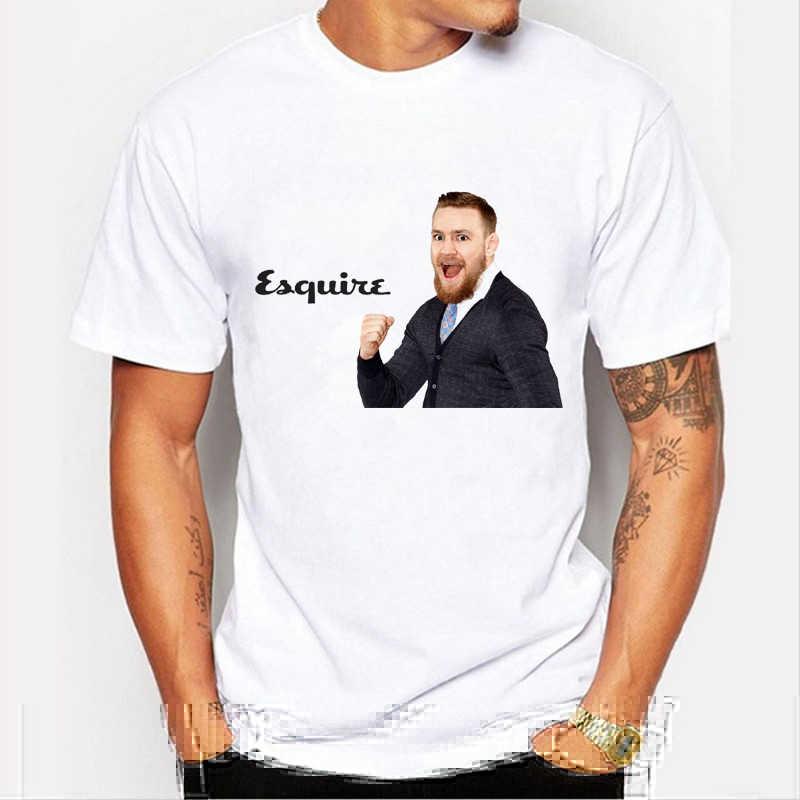 Nova chegada MMA Camisas casual T Conor Mcgregor Tee T-shirt de Manga Curta o pescoço do Homem Tops campeão Pode ser personalizado 73-9 #