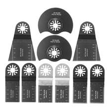 Doersupp Hot Sale 10 Pcs/set Oscillating Multitool Saw Blade Multi Tools Accessories Kit For Renovator Power Tools Home DIY