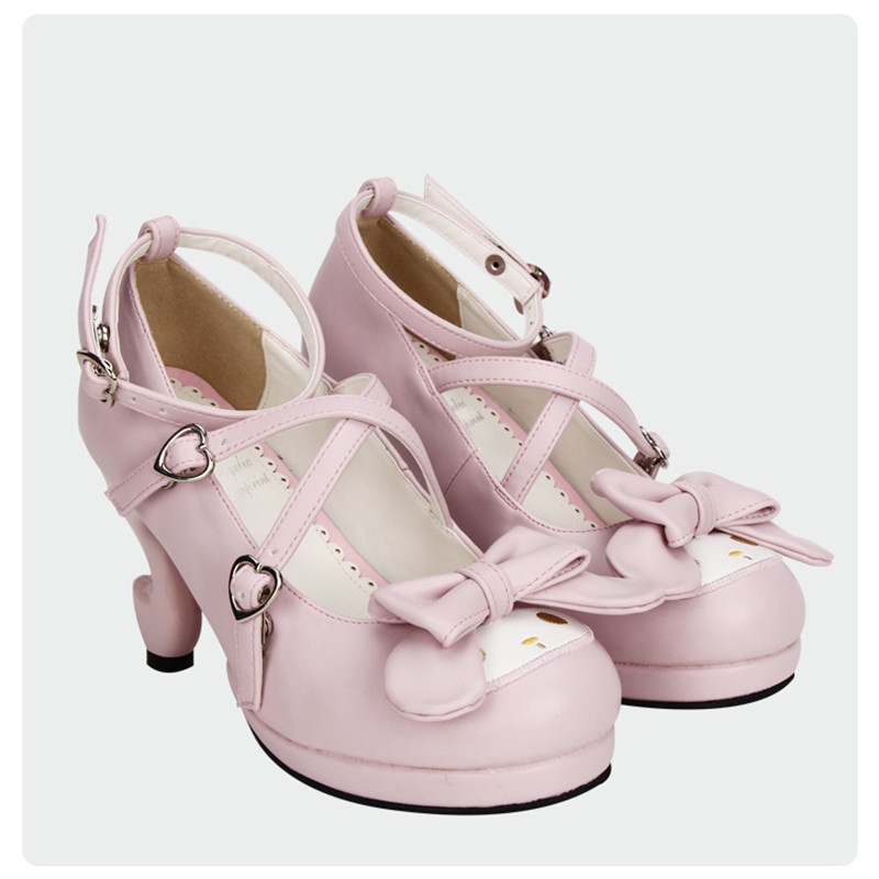 Heel À Brides Chaussures Doux Cosplay Heel Lolita 7cm 5cm 5cm Pink 4 Mignon 7cm Heel Croix Rose Filles Custom Lapin White Talons 4 Épais pink fantasy PN80knOXw