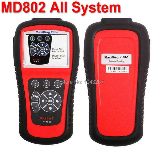Autel Maxidiag Elite MD802 Todo o sistema + Modelo DS (MD701 + MD702 + MD703 + MD704) Sistema Completo DS + EPB + OLS + Fluxo de Dados Ferramenta de Diagnóstico