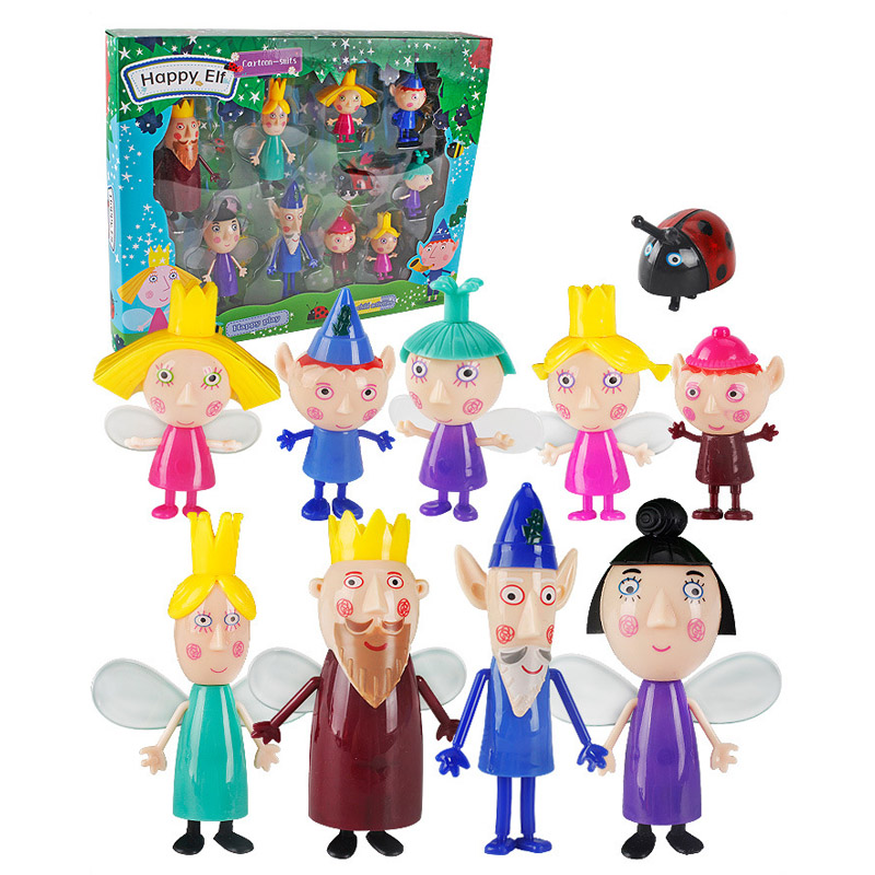 10pcs/set Ben And Holly Little Kingdom Oyuncak Anime Figures Toy 5cm-9cm Pvc Kawaii Cartoon Toys For Kid Birthday Christmas Gif Soft And Light Action & Toy Figures