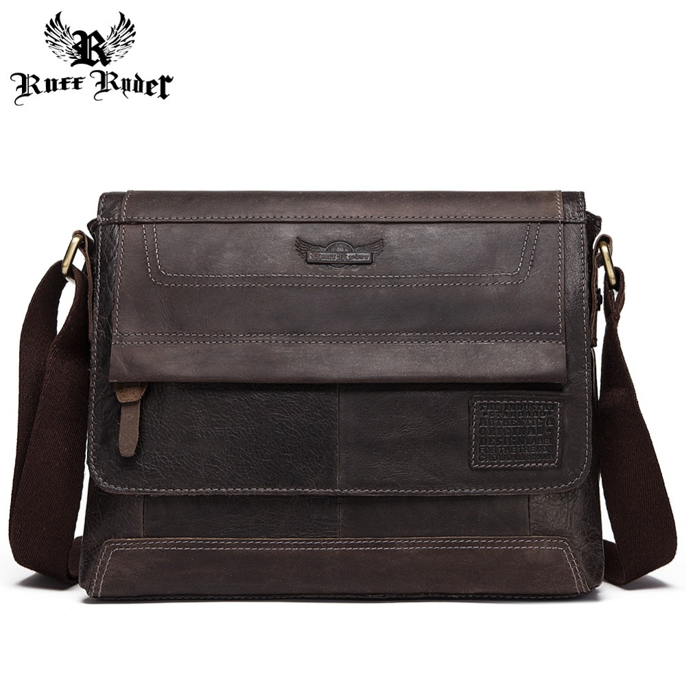RUFF RYDER 100% Genuine Leather Casual Business Mens Messenger Bag New Fashion Men Shoulder bags Male Bolsas Crossbody Tote RUFF RYDER 100% Genuine Leather Casual Business Mens Messenger Bag New Fashion Men Shoulder bags Male Bolsas Crossbody Tote