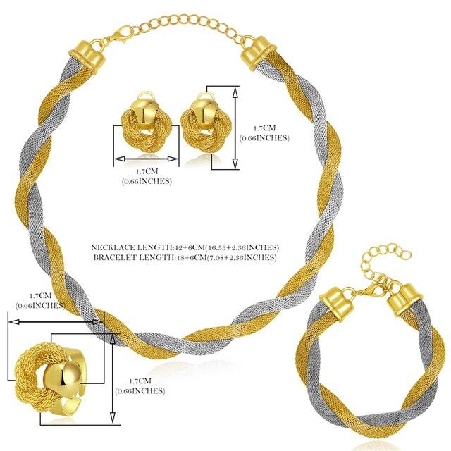 Ensemble de bijoux CWEEL  collier bracelet bague 5