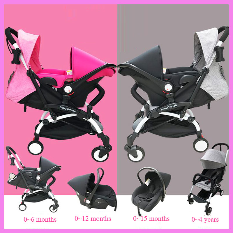 Baby Stroller 3 In 1 Newborn Infant Sleeping Basket Baby Carriage Portable Stroller with Car Seat Travel System Airplane Pram free 3 in 1 baby strollers light baby car sleeping basket newborn baby carriage 0 36 months europe baby pram carriage five color