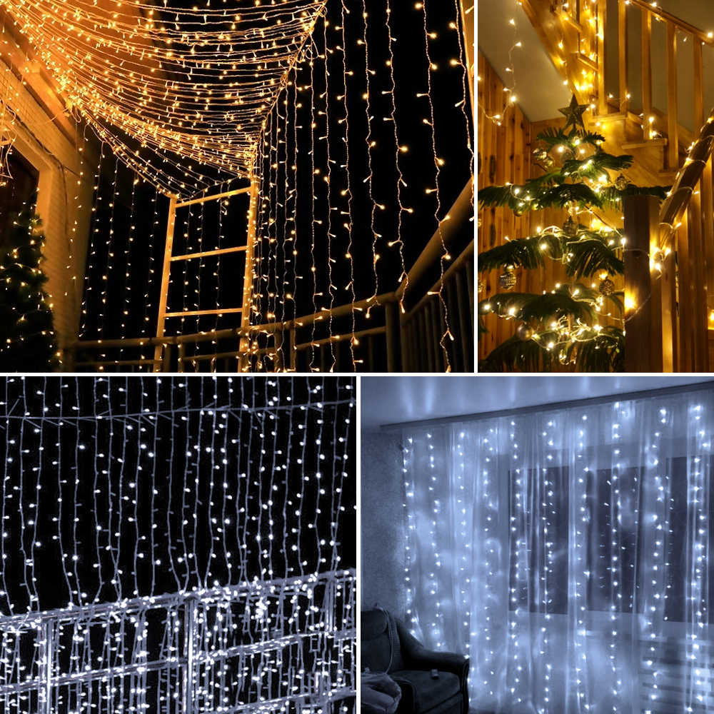 2020 New Year's Decor Light 3Mx3M 100V/220V LED Fairy ...