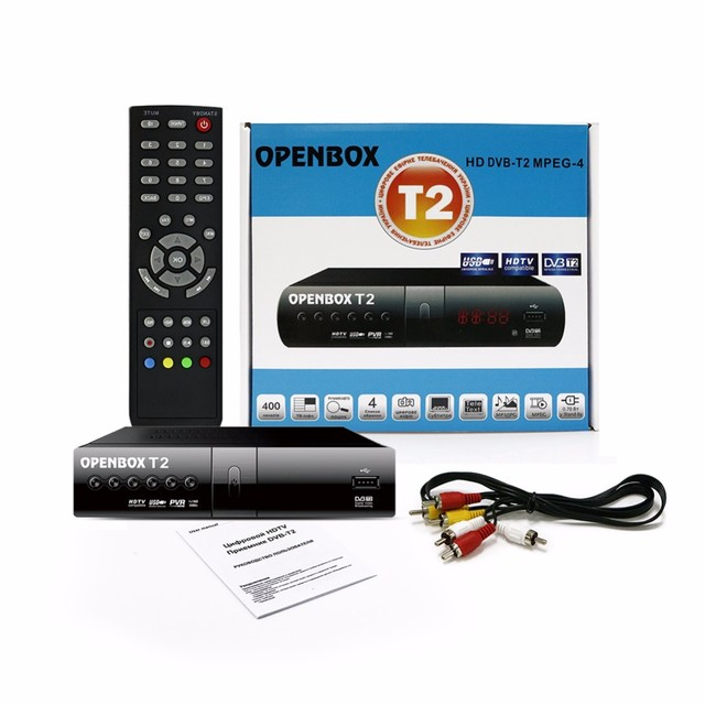 OPENBOX DVB T2 HD MPEG-4 DVB-T USB Smart TV BOX Digital Receptor de TV inteligente Display LED Set Top box Set-top box media player