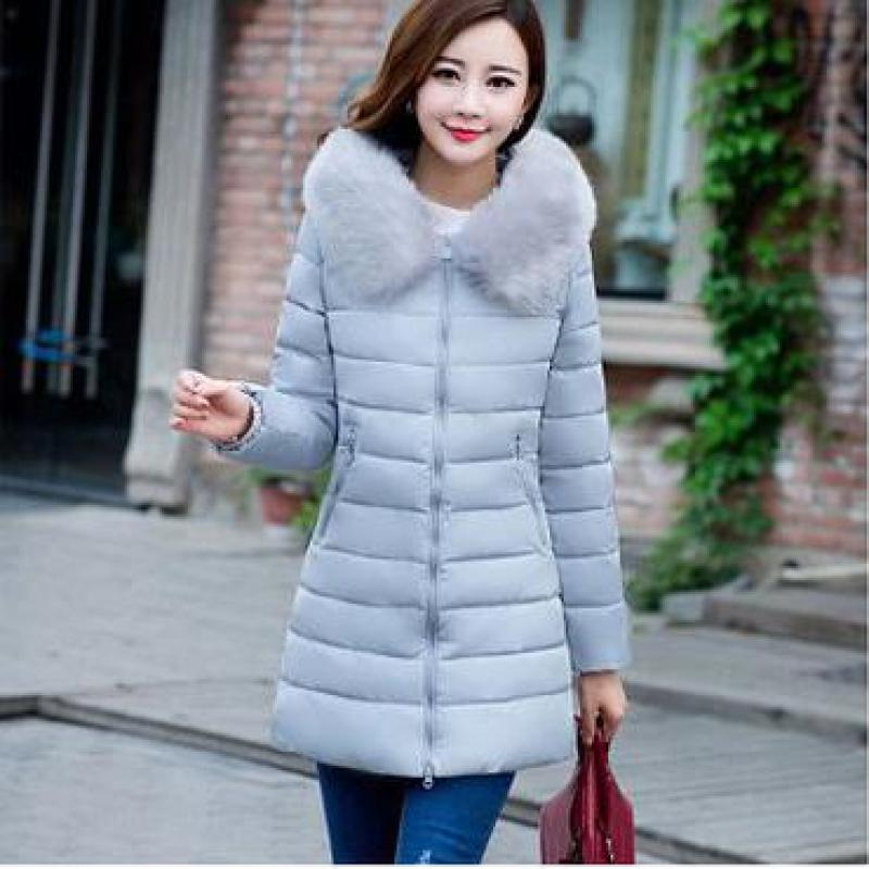 Womens Parka 2017 winter fur collar long section thickening down large size cotton new women Slim thin cotton Winter Coats cSdDt 2014 winter new top 90 european stations velvet waist slim flouncing long section of a large swing down