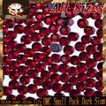 Mix Size Heat Transfer Flatback Dark Siam DMC Hot Fix Rhinestones for Phonecase Decoration DIY Nail Art