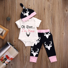 Sweet Girls Clothes Set Toddler Kids Short Sleeve Slip T-shirt Tops Pant Legging 2PCS Little Lady Outfit Children Clothing