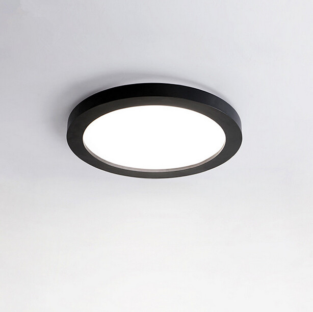 2017 New Modern And Simple Circular Led Ceiling Lamp Black Color Restaurant Bedroom Living Room Balcony Light Free Shipping vemma acrylic minimalist modern led ceiling lamps kitchen bathroom bedroom balcony corridor lamp lighting study