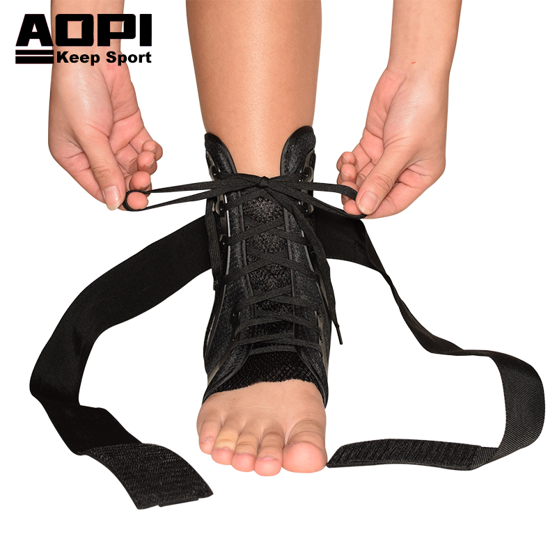 AOPI Brand Safety Ankle Support Gym Running Protection Breathable Elastic Ankle Brace Band Guard Sport Adjustable for Basketball adjustable sport magnetic keen protection pad brace black