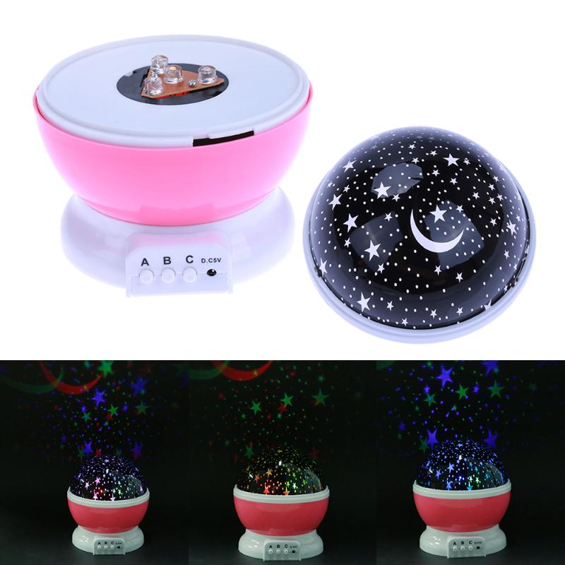 HTB17J6Qa7.HL1JjSZFlq6yiRFXai Stars Starry Sky LED Projector Moon Night Lamp Battery USB Bedroom Party Projection Lamp for Children's Night Light Gift