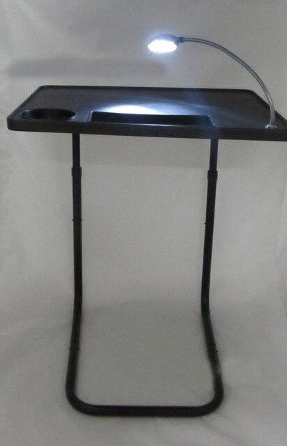 Wholesale Multifunctional LED Lamp Tables TV Lazy Bedside Folding Table  Plastic Portable Laptop Computer Desks Free