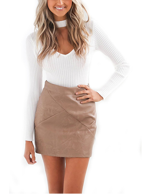 V-Neck  Fringe Choker Top Blouse Knit White Black Autumn Blouses 2016  Women Casual Blouses Fall Slim Fashion Clothes Women 2016