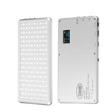 X 180 3200 5600K Dimmbare Dünne Utral LED Video Licht Auf Kamera Fotografie Beleuchtung DSLR Kamera Lampe 400mAh power Bank mit OLED