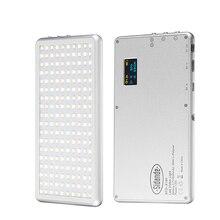 X 180 3200 5600K kısılabilir ince ultra açık LED Video işığı kamera fotoğraf aydınlatma DSLR kamera lambası 400mAh taşınabilir şarj cihazı OLED