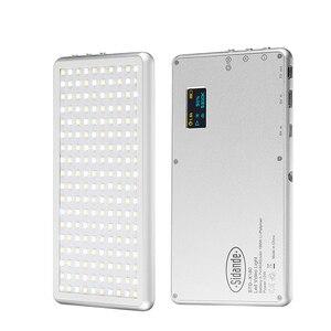 Image 1 - X 180 3200 5600K kısılabilir ince ultra açık LED Video işığı kamera fotoğraf aydınlatma DSLR kamera lambası 400mAh taşınabilir şarj cihazı OLED