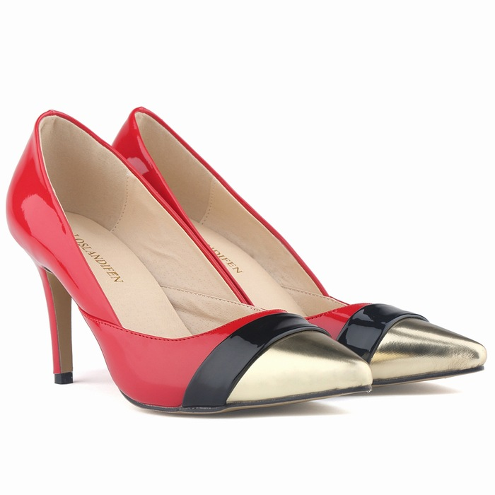 New Ladies Fashion Designer Office High Heel 2017 New Sexy Pointed Toe Heels Shoes Women Pumps Mixed Colors SMYBK-050 fashion designer women high heel sandals mixed color strap cut out pumps heel elegant ladies weeding dress shoes real photo
