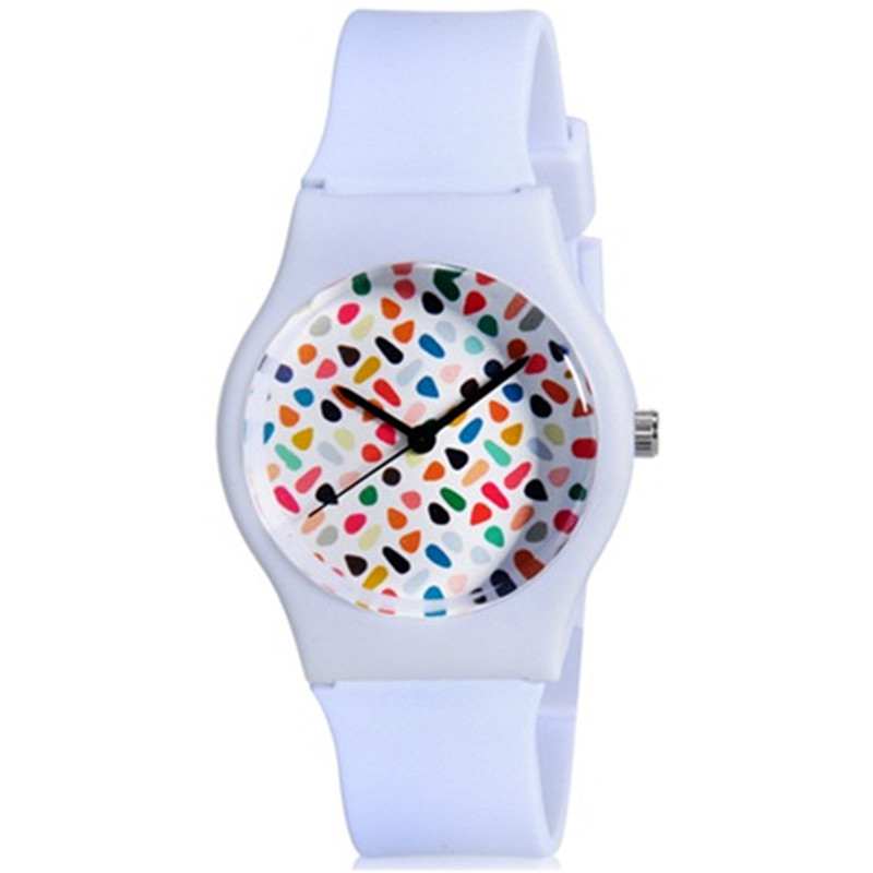 WILLIS Watch Women Beautiful Quartz Dial Rubber White Bracelet Watch Student Sports Wrist Watches For Children Kids PENGNATATE chic xinhua 701 round pink dial star shaped case bracelet watch with dots hour marks for women white