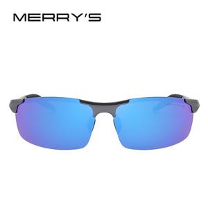 Image 2 - MERRYS Men Polarized Sunglasses Aviation Aluminum Magnesium Sun Glasses For Driving Fishing Rectangle Rimless Shades S8277