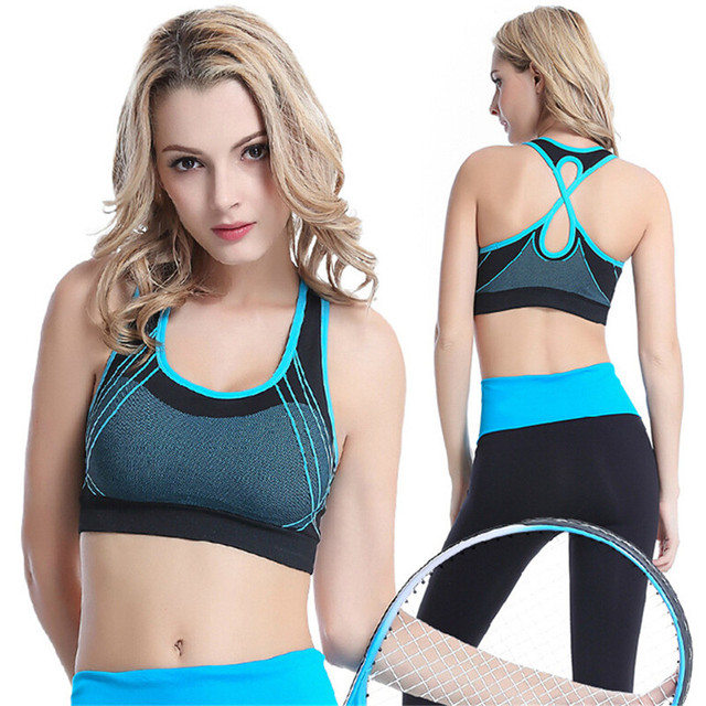 1cd4874ced523 No rims gather cross-wicking running fitness yoga vest Beautiful back Seamless  Sports Bra Workout Sportswear Sexy Fitness Yoga