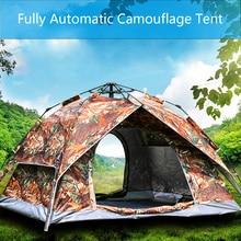 цена на 3-4 Person Quick Automatic Windbreak Camping Tent Dual Layer Waterproof Open Anti UV Tourist Tents Outdoor Hiking Beach Travel