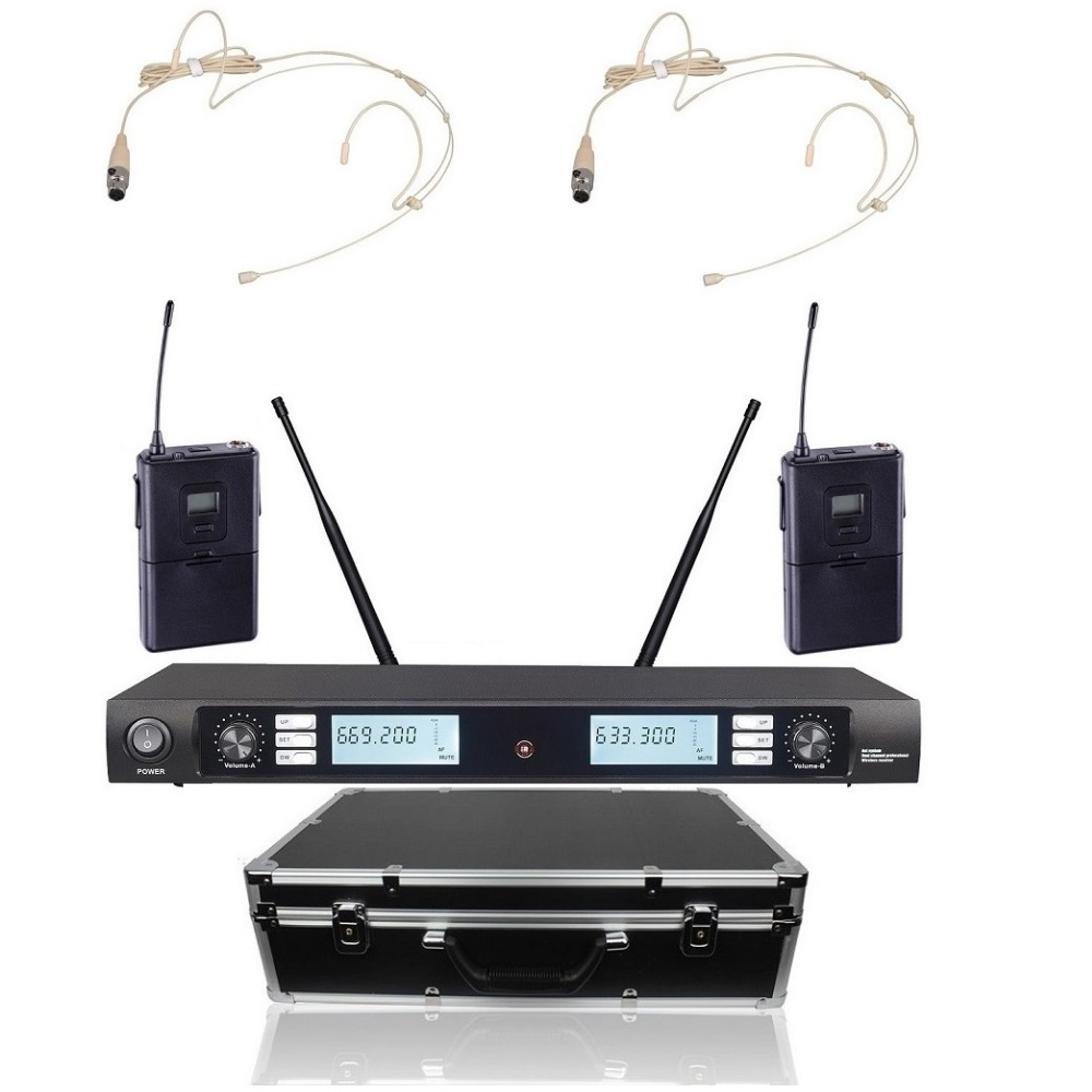 Wireless Microphone System For Teachers : bolymic 200 channels professional wireless vocal microphone system headset microphones for ~ Russianpoet.info Haus und Dekorationen