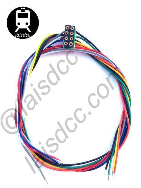 8 PIN DCC DECODER SOCKETS NEM 652 WITH WIRED HARNESS/LaisDcc Brand
