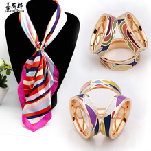 High-end women's fashion scarf buckle.scarves buckle a brooch popular female charm jewelry Christmas gift