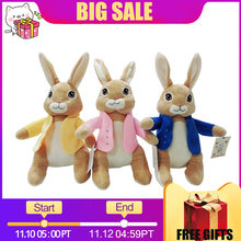 f518d444f81 Children Gifts 27cm Movie Cartoon Peter Rabbit Plush Dolls Appease Infants Stuffed  Toys Soft and Lovely Plush Animals Kids Toy