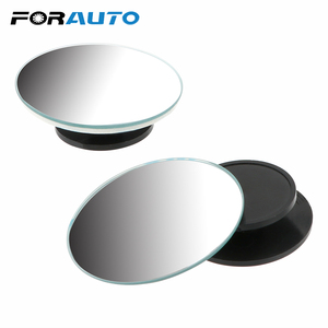 FORAUTO 2Pcs/Set for Car Vehicle Side Blind Spot Small Round Convex Mirror 360 Wide Angle Car RearView Mirror with Adhesive Tape