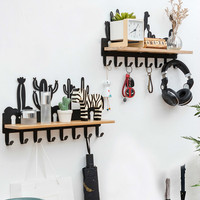 Punch free dormitory wall hanging porch rack clothes hook wall hanging strong adhesive wall hanger coat hook LM3181114