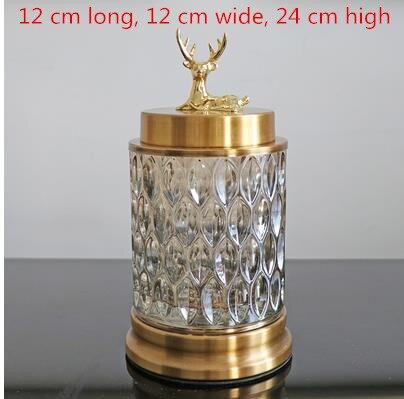 Beau cristal verre artisanat, cerf de noël, pots de bonbons, pots de stockage, décorations de salon - 4