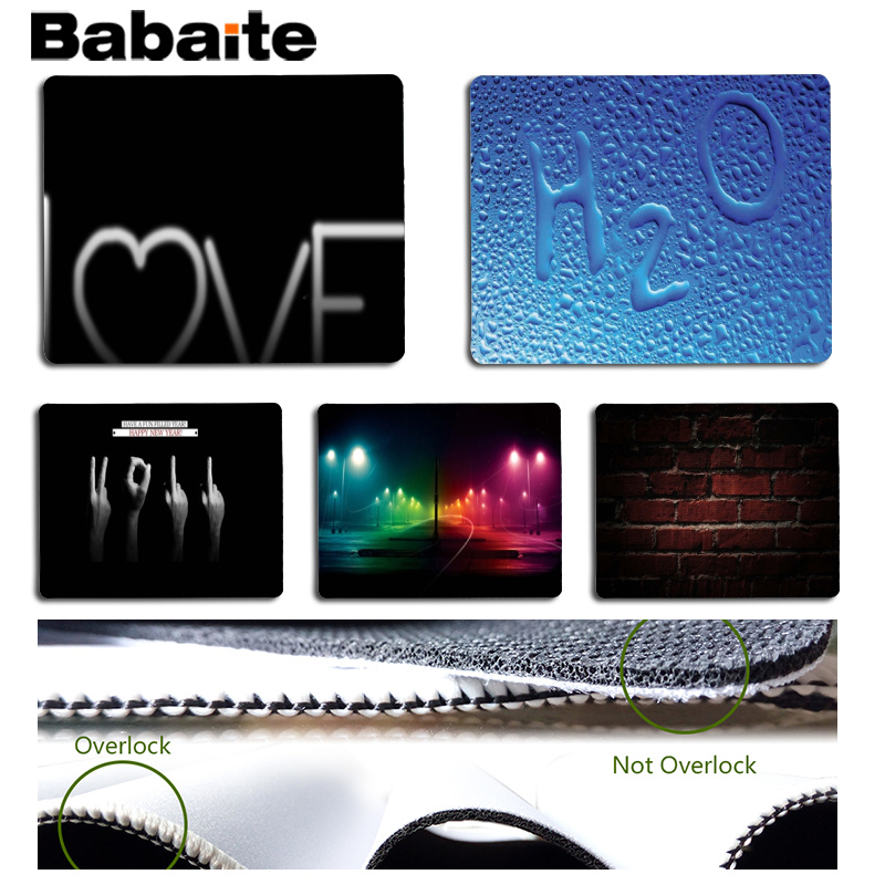 Babaite Top Quality Black cool background Customized MousePads Computer Laptop Anime Mouse Mat Size for 18x22cm 25x29cm
