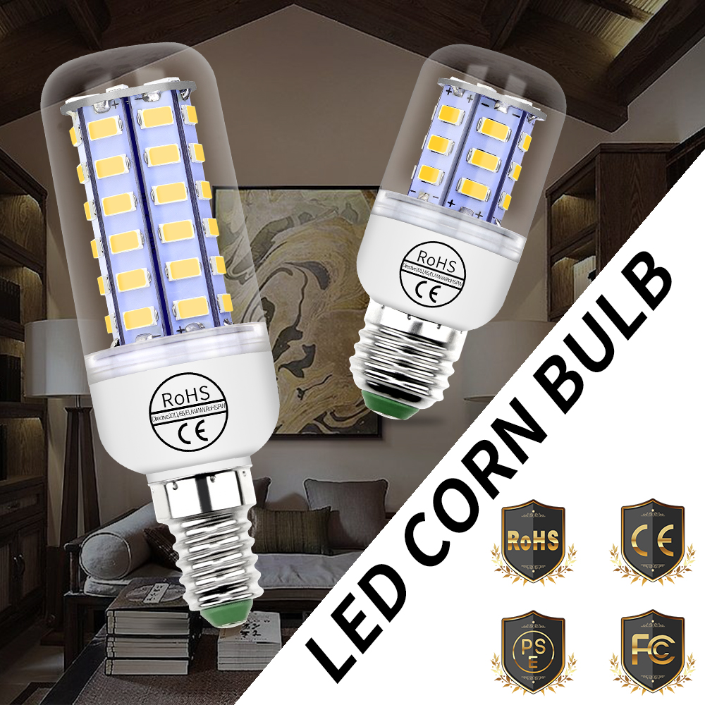 Led Lamp E27 220V Bombillas Led E14 Ampoule Led GU10 Energy Saving Light SMD 5730 Corn Bulb 24 36 48 56 69 72leds Home Lighting