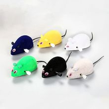 Funny Pet Cat Mice Toy Clockwork Mouse Rats Toy for Cat Kitten Interactive Plush Mouse Toys все цены