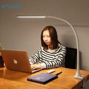 Image 1 - リモコンビジネス Led 会社のデスクランプクランプ 5 色温度 5 Brightenss 目のケアロングアームスタディテーブルランプとプラグ