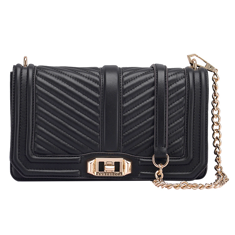 RM8905V  European and American Fashion Top Grade Brand Bag Women Leather Top layer Shoulder Bag skew Satchel Chain BagRM8905V  European and American Fashion Top Grade Brand Bag Women Leather Top layer Shoulder Bag skew Satchel Chain Bag