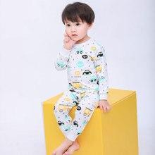 Kids Pajamas Children Sleepwear Baby Sets Boys Girls Car Pyjamas Pijamas Cotton Nightwear Boy Homewear Autumn Long Johns