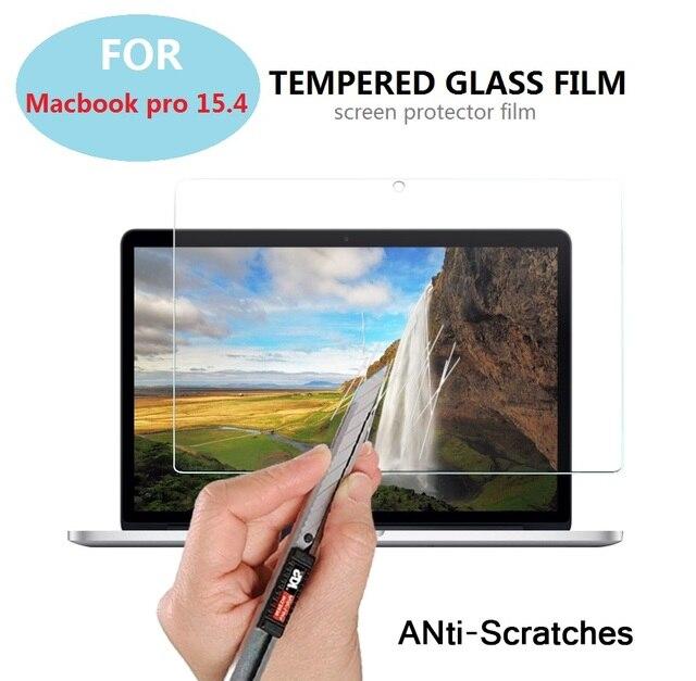 """15.4 """"0.3mm 9 H 2.5D prueba de Explosiones de Cristal Templado de cine para Macbook pro 15.4 pulgadas tablet Anti-shatter protector de pantalla LCD películas"""
