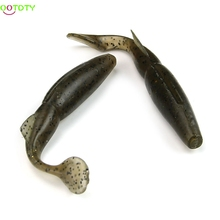 4.9 inch Soft Plastic Lure Worm Grub T Tail Fishing Bait Maggot Tackle
