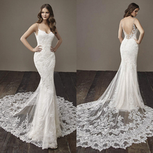 backless Mermaid Wedding Dress Bride Dress Court Train