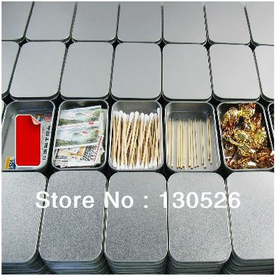 Tinplate Box 9 4x5 9x2 1cm Food Storage Box Iron Reminisced Cigarette Case Cardfile Tin Business
