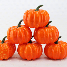 8*7.5CM Artificial Simulation Mini Pumpkin Vegetables Foam Plastic Model Ornament Kitchen Decoration DIY Accessories
