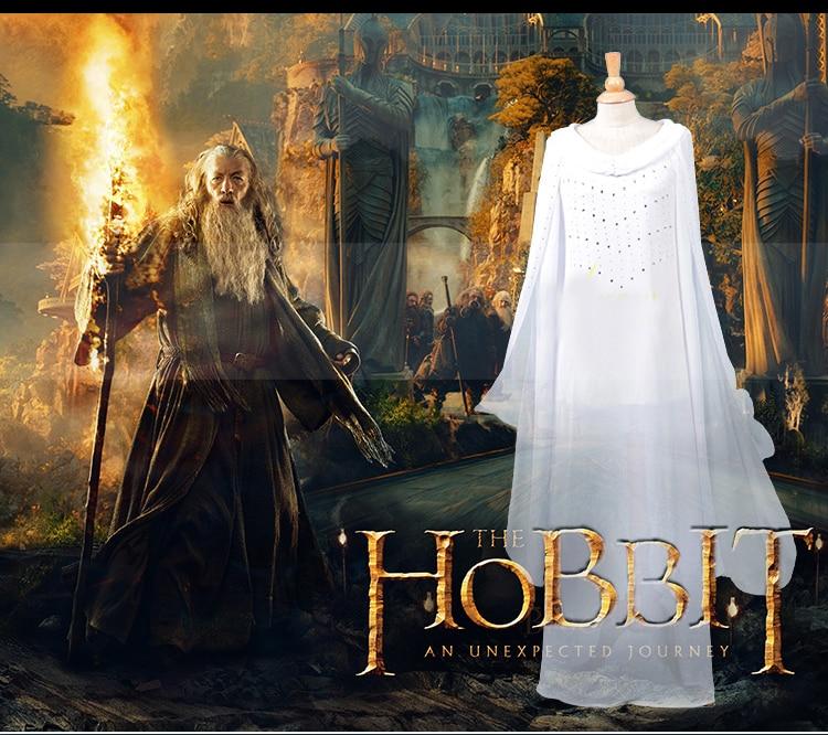 US $110.0 |Gorący film Hobbit władca pierścieni wróżka królowa Elven książę sukienka przebranie na karnawał długa sukienka biała w Kostiumy filmowe i